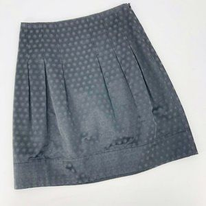 Anthro Elevenses Embossed Polka Dot A Line Skirt